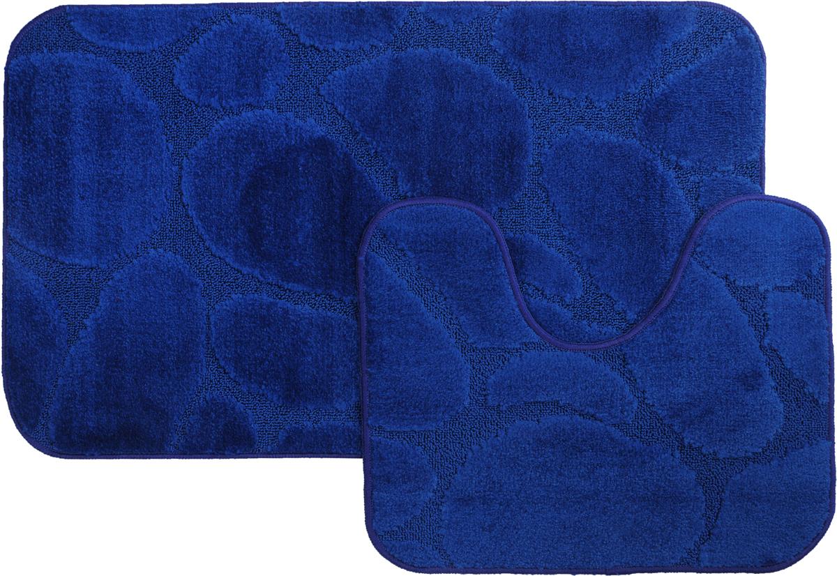 Набор ковриков для ванной MAC Carpet Рома. Камни, цвет: темно-синий, 60 х 100 см, 50 х 60 см, 2 шт21840Набор MAC Carpet Рома. Камни, выполненный из полипропилена, состоит из двух ковриков для ванной комнаты, один из которых имеет вырез под унитаз. Противоскользящее основание изготовлено из термопластичной резины. Коврики мягкие и приятные на ощупь, отлично впитывают влагу и быстро сохнут. Высокая износостойкость ковриков и стойкость цвета позволит вам наслаждаться покупкой долгие годы. Можно стирать вручную или в стиральной машине на деликатном режиме при температуре 30°С.