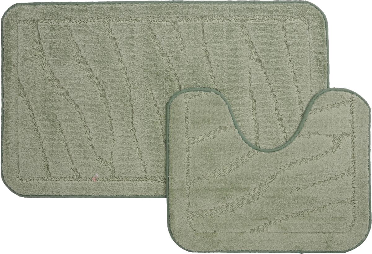 Набор ковриков для ванной MAC Carpet Рома. Линии, цвет: светло-зеленый, 60 х 100 см, 50 х 60 см, 2 шт21887Набор MAC Carpet Рома. Линии, выполненный из полипропилена, состоит из двух ковриков для ванной комнаты, один из которых имеет вырез под унитаз. Противоскользящее основание изготовлено из термопластичной резины. Коврики мягкие и приятные на ощупь, отлично впитывают влагу и быстро сохнут. Высокая износостойкость ковриков и стойкость цвета позволит вам наслаждаться покупкой долгие годы. Можно стирать вручную или в стиральной машине на деликатном режиме при температуре 30°С.