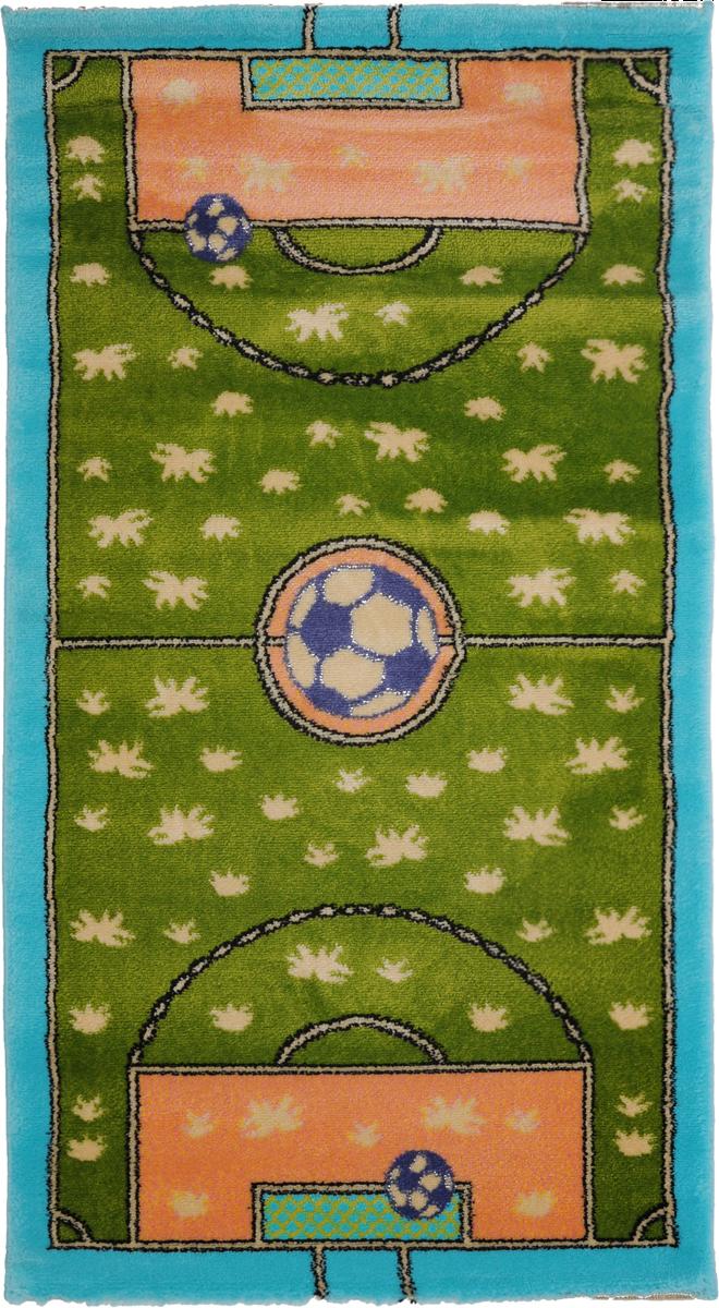 Ковер детский Kamalak Tekstil Футбол, прямоугольный, 60 x 110 смУКД-2010Детский ковер Kamalak Tekstil Футбол изготовлен из высококачественного полипропилена.Полипропилен износостоек, нетоксичен, не впитывает влагу, не провоцирует аллергию. Структура волокна в полипропиленовых коврах гладкая, поэтому грязь не будет въедаться и скапливаться на ворсе. Практичный и износоустойчивый ворс не истирается и не накапливает статическое электричество. Ковер обладает хорошими показателями теплостойкости и шумоизоляции. Оригинальный рисунок позволит гармонично оформить интерьер детской комнаты. За счет невысокого ворса ковер легко чистить. При надлежащем уходе синтетический ковер прослужит долго, не утратив ни яркости узора, ни блеска ворса, ни упругости. Самый простой способ избавить изделие от грязи - пропылесосить его с обеих сторон (лицевой и изнаночной). Влажная уборка с применением шампуней и моющих средств не противопоказана. Хранить рекомендуется в свернутом рулоном виде.