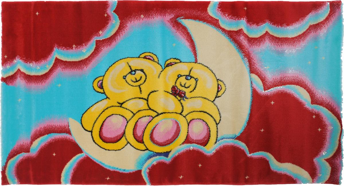 Ковер детский Kamalak Tekstil Мишки, прямоугольный, 80 x 150 смУКД-2023Детский ковер Kamalak Tekstil Мишки изготовлен из высококачественногополипропилена. Полипропилен износостоек, нетоксичен, не впитывает влагу, не провоцирует аллергию. Структураволокна в полипропиленовых коврах гладкая, поэтому грязь не будет въедаться и скапливатьсяна ворсе. Практичный и износоустойчивый ворс не истирается и не накапливает статическоеэлектричество.Ковер обладает хорошими показателями теплостойкости и шумоизоляции. Оригинальный рисунокпозволит гармонично оформить интерьер детской комнаты.За счет невысокого ворса ковер легко чистить. При надлежащем уходе синтетический коверпрослужит долго, не утратив ни яркости узора, ни блеска ворса, ни упругости.Самый простой способ избавить изделие от грязи - пропылесосить его с обеих сторон (лицевой иизнаночной). Влажная уборка с применением шампуней и моющих средств не противопоказана. Хранить рекомендуется в свернутом рулоном виде.