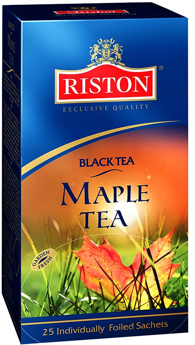 Riston Кленовый Сироп черный чай в пакетиках, 25 шт4792156005249Пикантная сладость кленового сиропа, нежных сливок и карамели в сочетании с черным чаем Riston создают изысканный сливочный вкус и сладкий насыщенный аромат.
