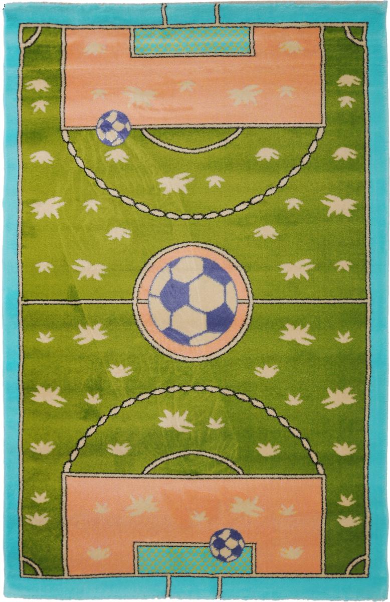 Ковер детский Kamalak Tekstil Футбол, прямоугольный, 100 x 150 смУКД-2008Детский ковер Kamalak Tekstil Футбол изготовлен из высококачественного полипропилена.Полипропилен износостоек, нетоксичен, не впитывает влагу, не провоцирует аллергию. Структура волокна в полипропиленовых коврах гладкая, поэтому грязь не будет въедаться и скапливаться на ворсе. Практичный и износоустойчивый ворс не истирается и не накапливает статическое электричество. Ковер обладает хорошими показателями теплостойкости и шумоизоляции. Оригинальный рисунок позволит гармонично оформить интерьер детской комнаты. За счет невысокого ворса ковер легко чистить. При надлежащем уходе синтетический ковер прослужит долго, не утратив ни яркости узора, ни блеска ворса, ни упругости. Самый простой способ избавить изделие от грязи - пропылесосить его с обеих сторон (лицевой и изнаночной). Влажная уборка с применением шампуней и моющих средств не противопоказана. Хранить рекомендуется в свернутом рулоном виде.