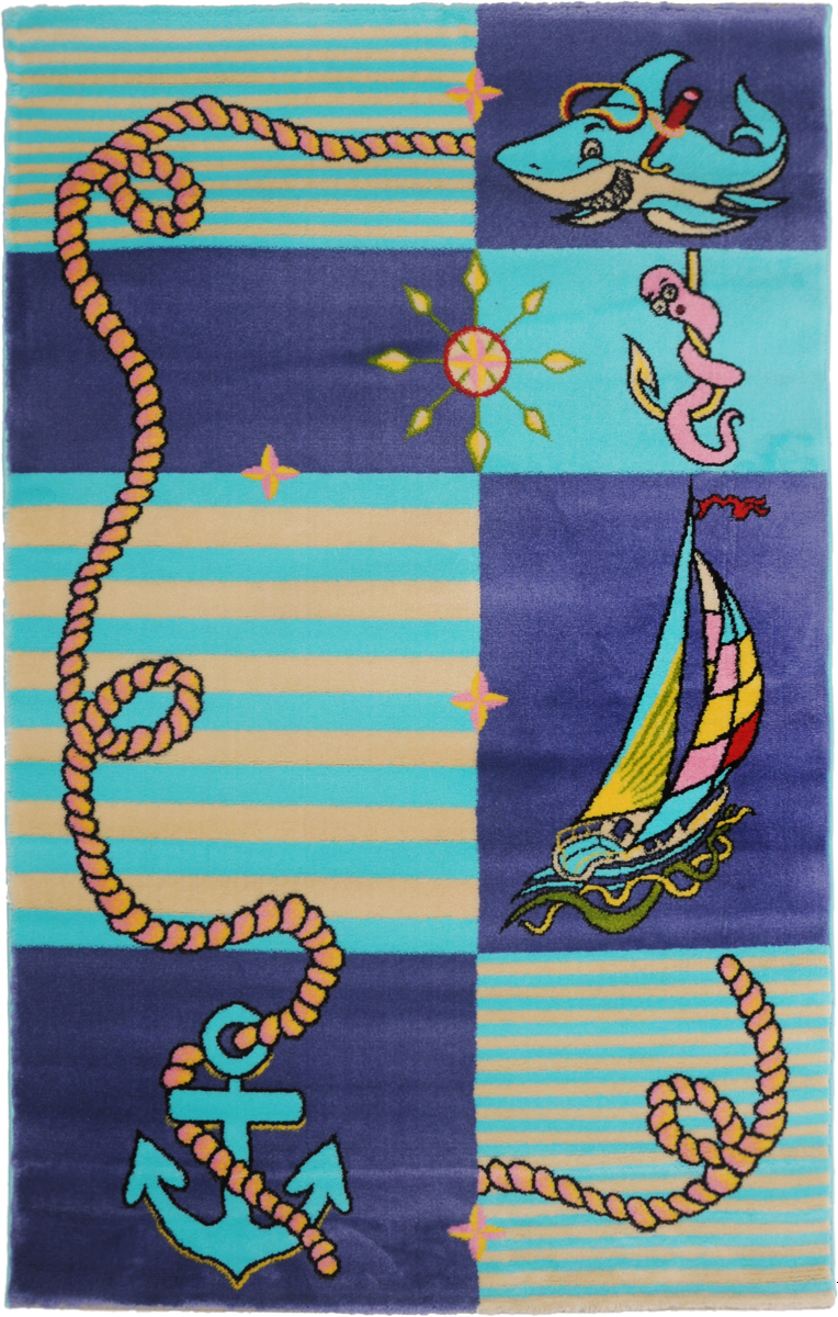 Ковер детский Kamalak Tekstil Капитан, прямоугольный, 100 x 150 смУКД-2016Детский ковер Kamalak Tekstil Капитан изготовлен из высококачественного полипропилена.Полипропилен износостоек, нетоксичен, не впитывает влагу, не провоцирует аллергию. Структура волокна в полипропиленовых коврах гладкая, поэтому грязь не будет въедаться и скапливаться на ворсе. Практичный и износоустойчивый ворс не истирается и не накапливает статическое электричество. Ковер обладает хорошими показателями теплостойкости и шумоизоляции. Оригинальный рисунок позволит гармонично оформить интерьер детской комнаты. За счет невысокого ворса ковер легко чистить. При надлежащем уходе синтетический ковер прослужит долго, не утратив ни яркости узора, ни блеска ворса, ни упругости. Самый простой способ избавить изделие от грязи - пропылесосить его с обеих сторон (лицевой и изнаночной). Влажная уборка с применением шампуней и моющих средств не противопоказана. Хранить рекомендуется в свернутом рулоном виде.