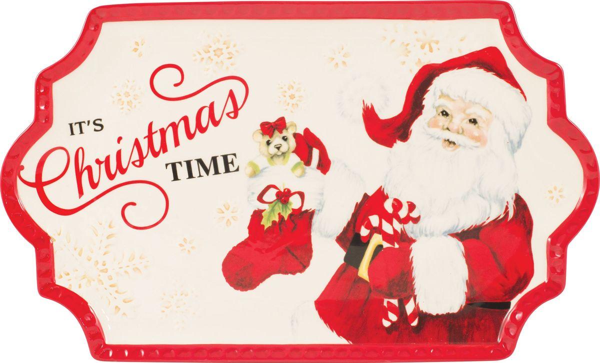 Блюдо для печенья Fitz and Floyd Письмо Деду Морозу, длина 36 см49-405Рекомендуется бережная ручная мойка с использованием безабразивных моющих средств.