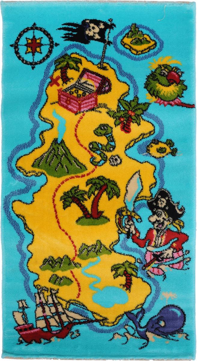 Ковер детский Kamalak Tekstil Остров сокровищ, прямоугольный, 60 x 110 смУКД-2015Детский ковер Kamalak Tekstil Остров сокровищ изготовлен из высококачественного полипропилена.Полипропилен износостоек, нетоксичен, не впитывает влагу, не провоцирует аллергию. Структура волокна в полипропиленовых коврах гладкая, поэтому грязь не будет въедаться и скапливаться на ворсе. Практичный и износоустойчивый ворс не истирается и не накапливает статическое электричество. Ковер обладает хорошими показателями теплостойкости и шумоизоляции. Оригинальный рисунок позволит гармонично оформить интерьер детской комнаты. За счет невысокого ворса ковер легко чистить. При надлежащем уходе синтетический ковер прослужит долго, не утратив ни яркости узора, ни блеска ворса, ни упругости. Самый простой способ избавить изделие от грязи - пропылесосить его с обеих сторон (лицевой и изнаночной). Влажная уборка с применением шампуней и моющих средств не противопоказана. Хранить рекомендуется в свернутом рулоном виде.