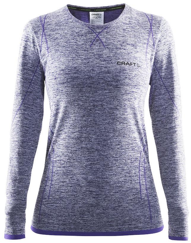Термобелье кофта женская Craft Active Comfort, цвет: фиолетовый меланж. 1903714. Размер S (44)1903714Универсальное женское термобелье. Мягкая и эластичная, легкая, но согревающая ткань термобелья сохранит ваше тело в тепле, сухости и комфорте. Прекрасная терморегуляция, свободный крой и плоские швы. Различные зоны плотности материала с учетом картографии тела. Бесшовный дизайн для оптимальной свободы движений.