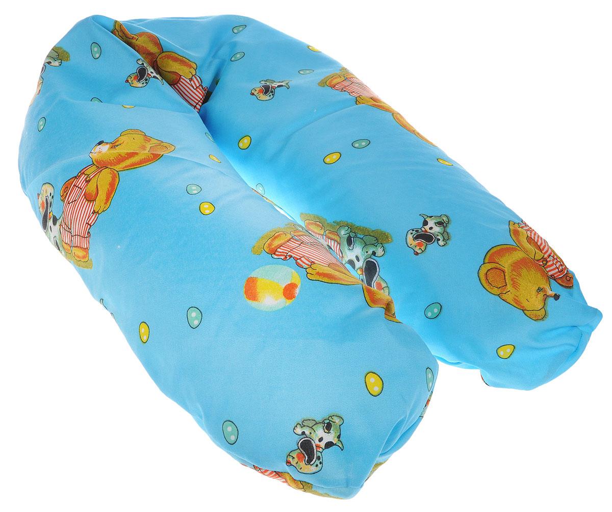 Selby Подушка для кормления универсальная 57 х 80 см5536п_мишка, собачка синийУниверсальная подушка Selby идеально подходит для малышей с рождения, а также для женщин во время беременности и периода кормления ребенка грудью.Подушка выполнена из хлопка, внутри - мягкий наполнитель из полистирола.Подушка поддерживает ребенка, когда он лежит на животике, что очень полезно для развития мускулатуры спины и рук. Лежание на валике увеличивает обзор ребенку.Во время беременности подушка обеспечивает будущей маме комфортное положение во время сна и отдыха, поддерживает живот и уменьшает нагрузку на позвоночник. Во время кормления грудью подушка дает возможность удобно держать ребенка на уровне груди, способствует уменьшению усталости рук и спины.Чехол на молнии, поэтому легко снимается и стирается. Машинная стирка (60 °С) и деликатный отжим.