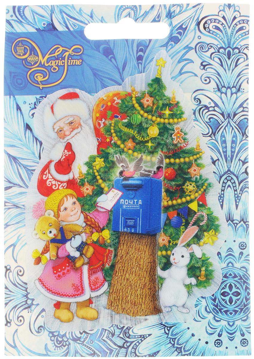 Украшение новогоднее Magic Time Почта Деда Мороза, со светодиодной подсветкой, 12 x 8,5 x 3 см украшение новогоднее magic time снеговики со светодиодной подсветкой на присоске 10 5 x 10 x 3 см