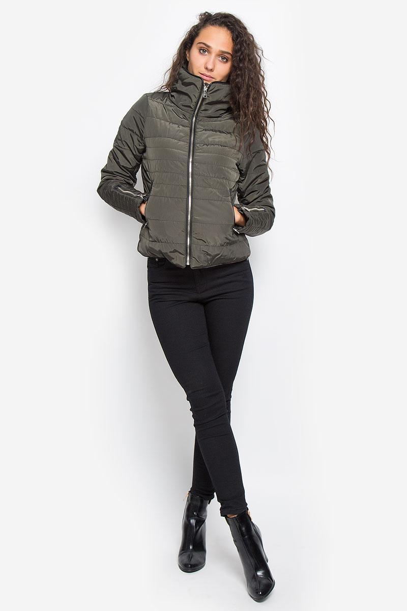 Куртка женская Vero Moda, цвет: темно-оливковый. 10159737. Размер S (42) пальто vero moda цвет темно оливковый