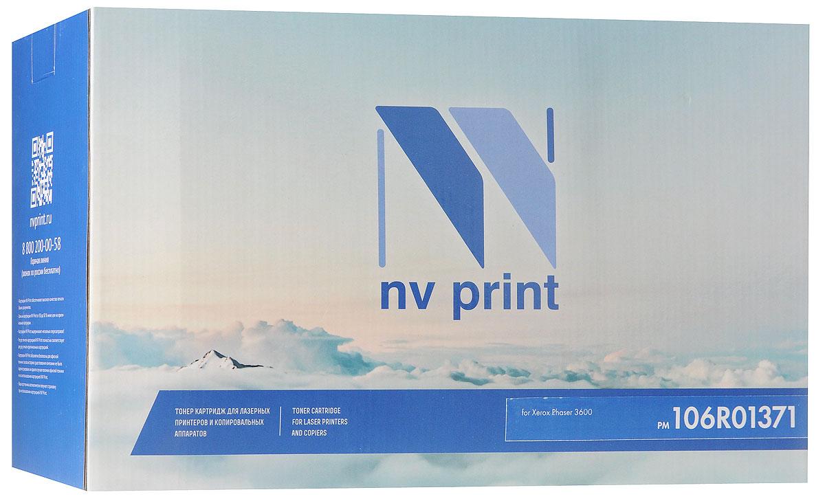 NV Print 106R01371, Black тонер-картридж для Xerox Phaser 3600NV-106R01371Совместимый лазерный картридж NV Print 106R01371 для печатающих устройств Xerox - это альтернатива приобретению оригинальных расходных материалов. При этом качество печати остается высоким. Картридж обеспечивает повышенную чёткость чёрного текста и плавность переходов оттенков серого цвета и полутонов, позволяет отображать мельчайшие детали изображения.Лазерные принтеры, копировальные аппараты и МФУ являются более выгодными в печати, чем струйные устройства, так как лазерных картриджей хватает на значительно большее количество отпечатков, чем обычных. Для печати в данном случае используются не чернила, а тонер.