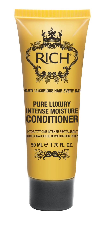 Rich Интенсивный увлажняющий кондиционер, 50 мл150507Кондиционер для ежедневного применения. Придает волосам блеск и ухоженный вид, уменьшает наэлектризованность волос, придает волосам гдадкость. Защищает от агрессивного воздействия горячего воздуха при укладке, от негативного воздействия UV лучей
