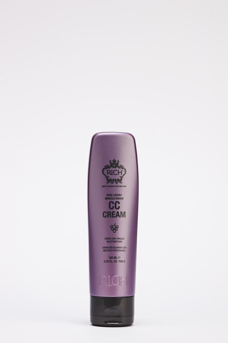 Rich Крем СС возрождение, 100 мл150602Универсальный крем, придающий объём, защищающий и увлажняющий волосы.Содержит витамины группы B, которые придают кератиновому слою волоса энергию и объём. Экстракт водорослей ламинарии увлажняет волосы и кожу головы, а также подпитывает их аминокислотами, витаминами и минералами.Смесь гидролизованных протеинов пшеницы, сои и кукурузы сглаживает, укрепляет волосы и контролирует пушение.Аргановое масло активно увлажняет и питает