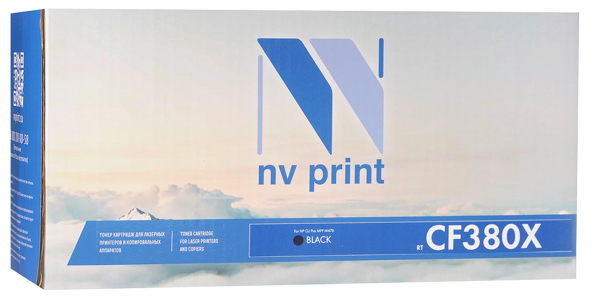 NV Print CF380XBk, Black тонер-картридж для HP Color LaserJet Pro MFP M476 nv print cf410a black тонер картридж для hp color laserjet pro m452 m477