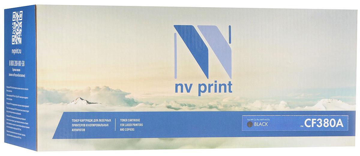 NV Print CF380ABk, Black тонер-картридж для HP Color LaserJet Pro MFP M476 nv print nv q7516a black тонер картридж для hp laserjet 5200 5200tn 5200dtn