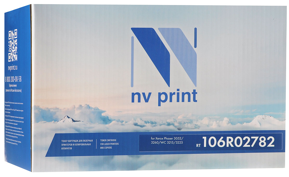 NV Print 106R02782, Black тонер-картридж для Xerox Phaser 3052/3260/WC 3215/3225 картридж xerox 106r02782