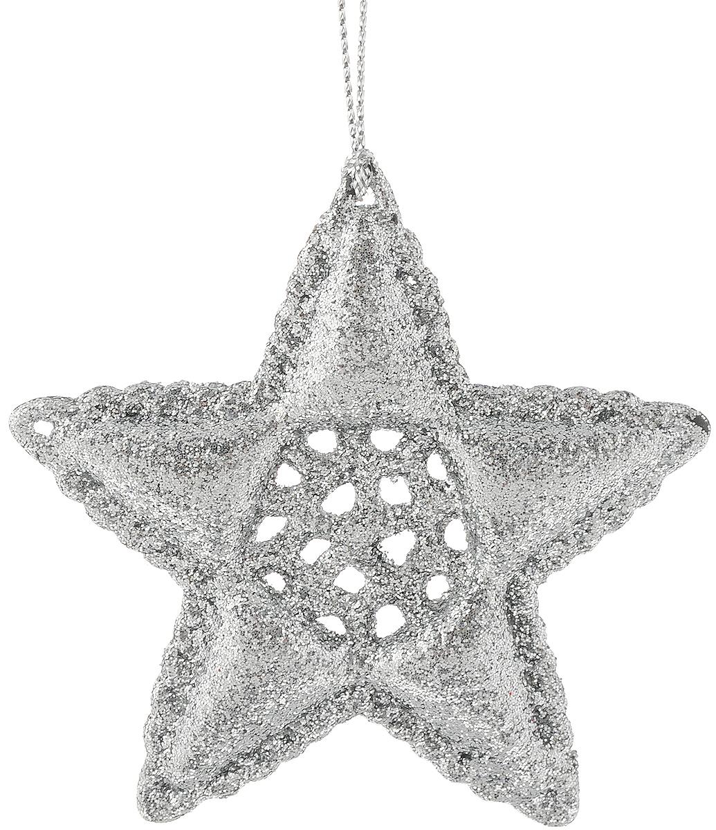 Украшение новогоднее подвесное Magic Time Серебряная звездочка, 8 см38731Оригинальное новогоднее украшение Серебряная звездочка выполнено из прочного пластика. С помощью специальной петельки украшение можно подвесить в любом понравившемся вам месте. Но, конечно же, удачнее всего такая игрушка будет смотреться на праздничной елке. Новогодние украшения приносят в дом волшебство и ощущение праздника. Создайте в своем доме атмосферу веселья и радости, украшая всей семьей новогоднюю елку нарядными игрушками, которые будут из года в год накапливать теплоту воспоминаний.