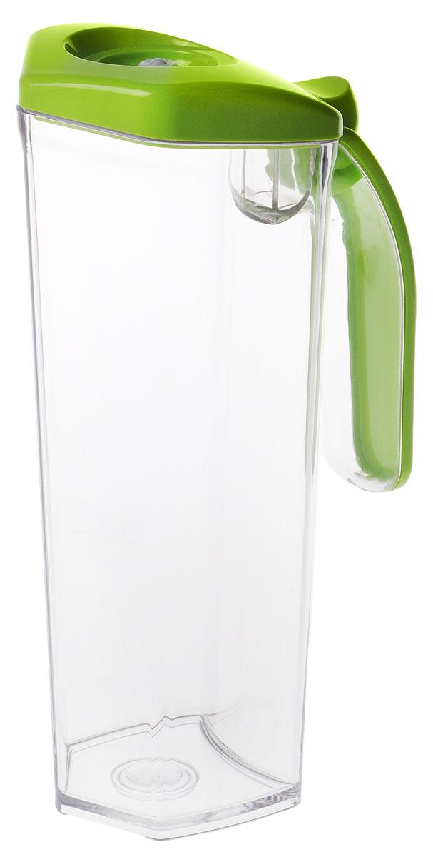 Status JUG 1, Green кувшин вакуумный832-031Вакуумный кувшин Status JUG 1 подходит для хранения соков, молока и других напитков, что продлевает их срокгодности, сохраняет аромат и вкус.Форма кувшина разработана для удобного хранения на полке в дверце холодильника. Изготовлен из прочногохрустально-прозрачного аморфного пластика Eastman Tritan.Пригоден для замораживания (до -21 °C), мытья в посудомоечной машине, разогрева в СВЧ (без крышки).Для создания вакуума необходим вакуумный насос.
