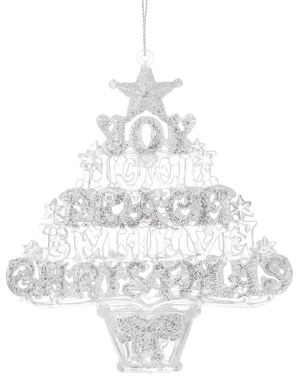 Украшение новогоднее подвесное Magic Time Рождественская елочка, высота: 13,3 см38594Оригинальное новогоднее украшение Рождественская елочка выполнено из прочного материала. С помощью специальной петли украшение можно подвесить влюбом понравившемся вам месте. Но, конечно же, удачнее всего такая игрушка будетсмотреться на праздничной елке.Новогодние украшения приносят в дом волшебство и ощущение праздника. Создайте всвоем доме атмосферу веселья и радости, украшая всей семьей новогоднюю елкунарядными игрушками, которые будут из года в год накапливать теплоту воспоминаний. Материал: полистирол. Размер (высота): 13,3 см.