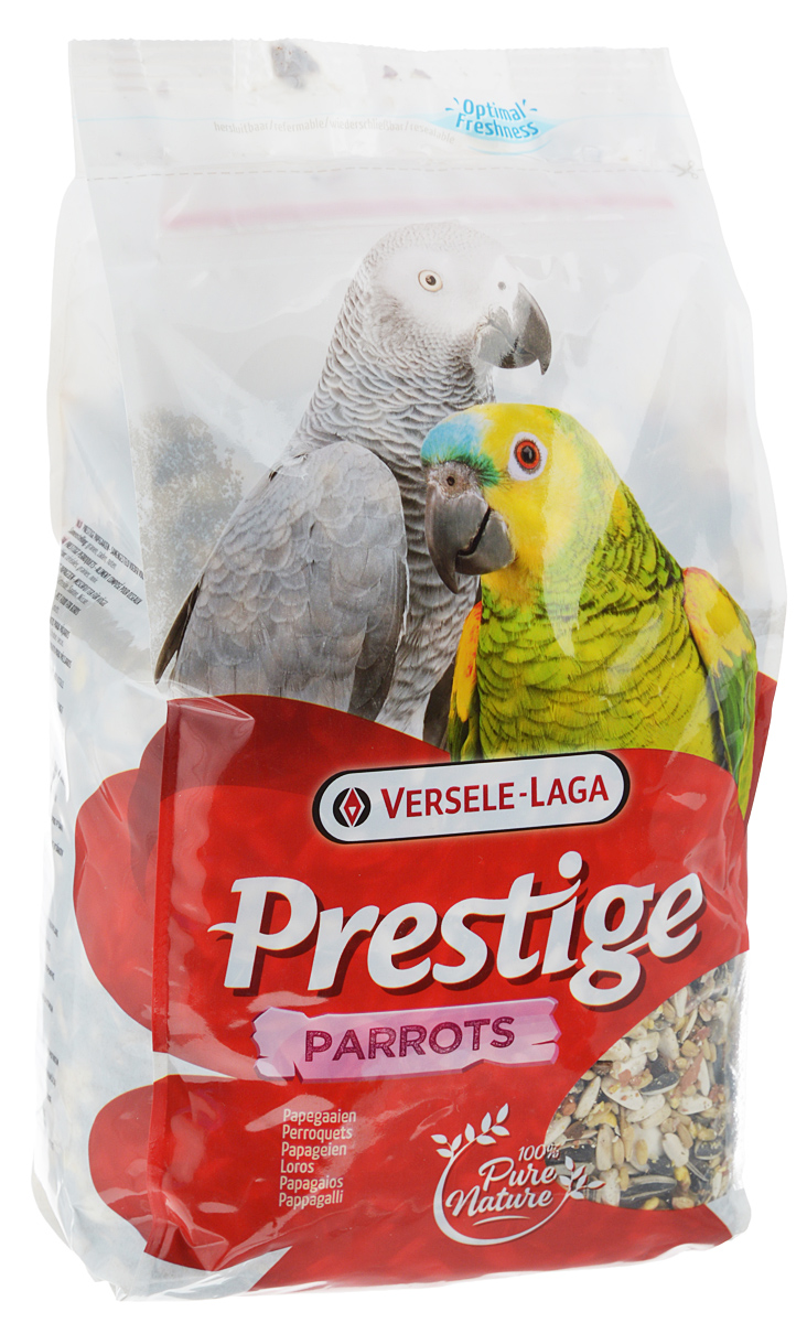 Корм для крупных попугаев Versele-Laga Prestige Parrots, 1 кг корм для птиц vitakraft menu vital для волнистых попугаев основной 1кг