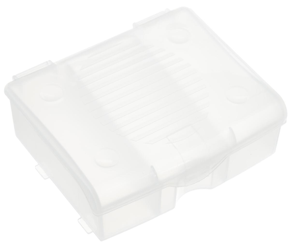 Органайзер для мелочей Blocker, цвет: прозрачный, 11 х 9 х 4,2 смПЦ3713ПРМТ-40PSОрганайзер для мелочей Blocker предназначен для оптимальной организации пространства. Внутреннее деление на 3 секции делает удобным размещение внутри блока деталей, которые необходимо отделить друг от друга, а прозрачная крышка позволяет увидеть содержимое, не открывая блок. Подходит для хранения швейных принадлежностей, мелких деталей и рыболовных снастей. Крышка плотно закрывается и предотвращает потерю содержимого.
