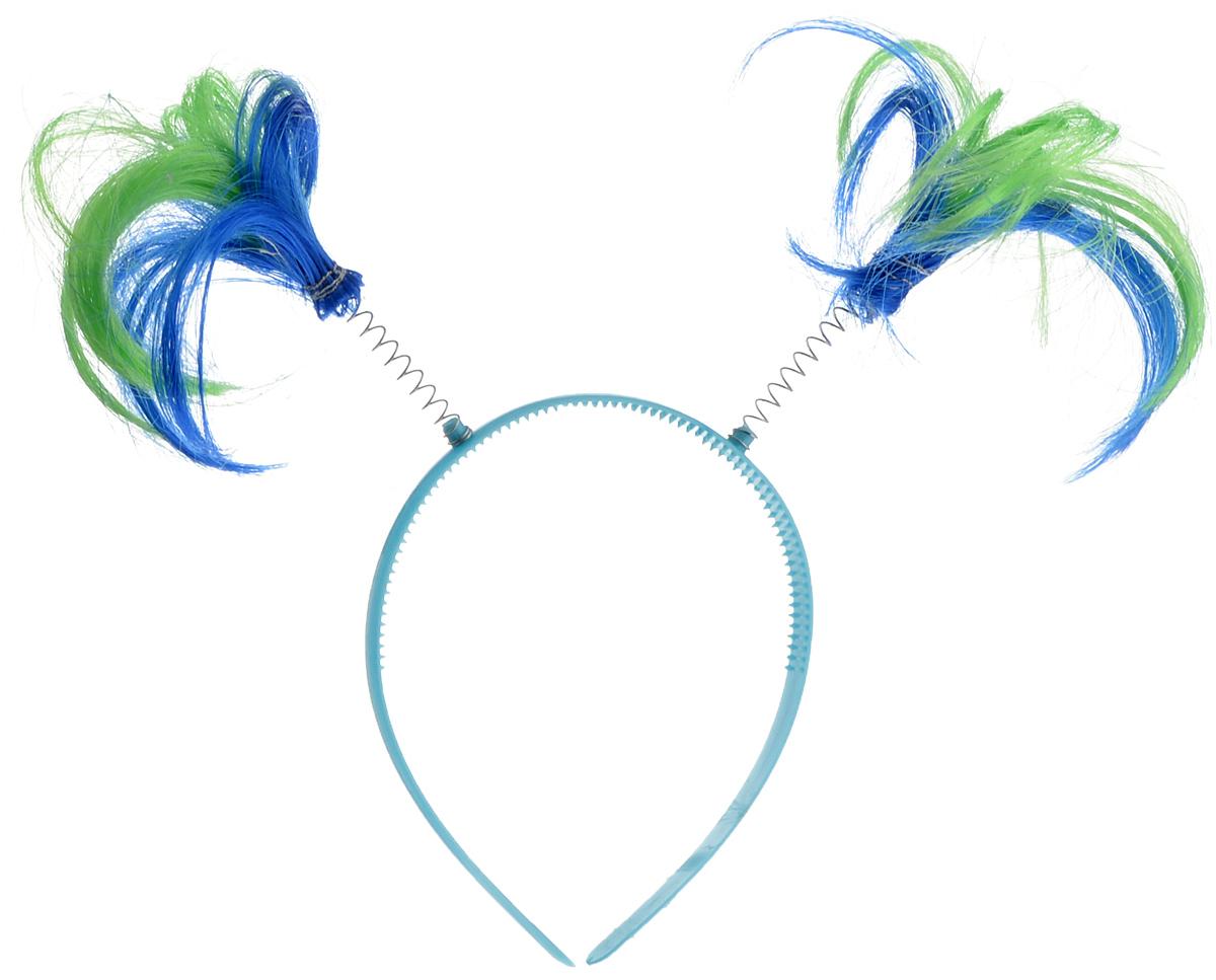 Ободок маскарадный Феникс-Презент Пеппи, цвет: голубой, синий, салатовый ваза декоративная феникс презент высота 22 3 см