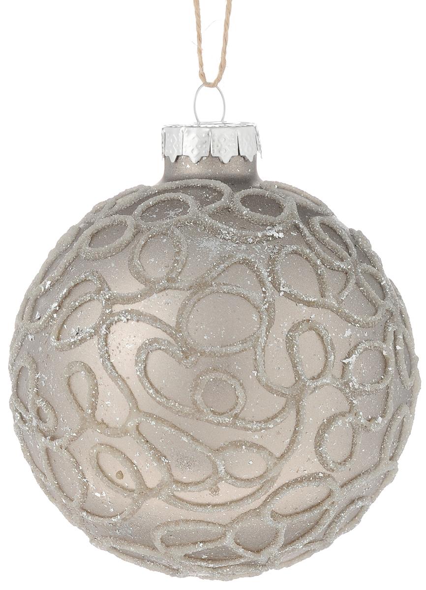 Украшение новогоднее подвесное Magic Time Паутинка, 8 см42337Новогоднее подвесное украшение Magic Time Паутинка выполнено из высококачественного стекла в форме шара и оформлено изящным рисунком с блестками. С помощью специальной петельки украшение можно повесить в любом понравившемся вам месте. Но, конечно, удачнее всего оно будет смотреться на праздничной елке. Елочная игрушка - символ Нового года. Она несет в себе волшебство и красоту праздника. Создайте в своем доме атмосферу веселья и радости, украшая новогоднюю елку нарядными игрушками, которые будут из года в год накапливать теплоту воспоминаний.Материал: стекло;Диаметр: 8 см.