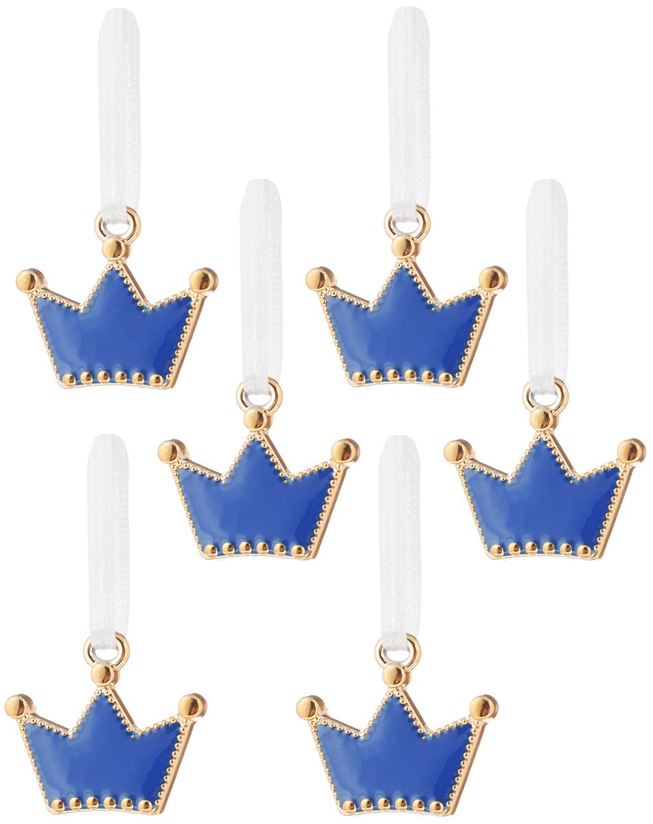 Украшение новогоднее подвесное Феникс-Презент Синие короны, 9,5 х 6,5х 1см, 6 шт41803/75380Оригинальное новогоднее украшение Синие короны выполнено из прочных материалов. С помощью специальной ленточки украшение можно подвесить практически в любом понравившемся вам месте. Но, конечно же, удачнее всего такая игрушка будет смотреться на праздничной елке. Новогодние украшения приносят в дом волшебство и ощущение праздника. Создайте в своем доме атмосферу веселья и радости, украшая всей семьей новогоднюю елку нарядными игрушками, которые будут из года в год накапливать теплоту воспоминаний.