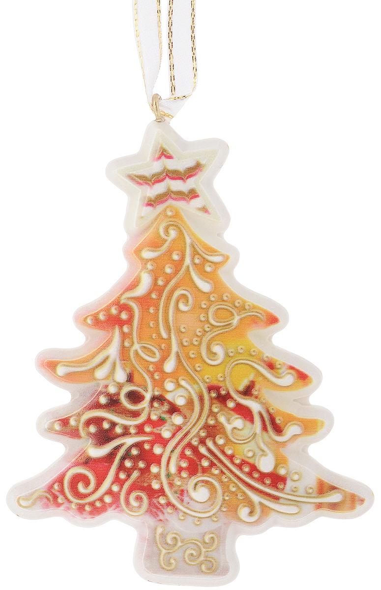 Украшение новогоднее подвесное Magic Time Желтая елочка, 8,5 х 11 см41767Оригинальное новогоднее украшение Желтая елочка выполнено из прочного материала. С помощью специальной петли украшение можно подвесить влюбом понравившемся Вам месте. Но, конечно же, удачнее всего такая игрушка будетсмотреться на праздничной елке.Новогодние украшения приносят в дом волшебство и ощущение праздника. Создайте всвоем доме атмосферу веселья и радости, украшая всей семьей новогоднюю елкунарядными игрушками, которые будут из года в год накапливать теплоту воспоминаний. Материал: полирезина. Размер: 8,5 х 11 см.