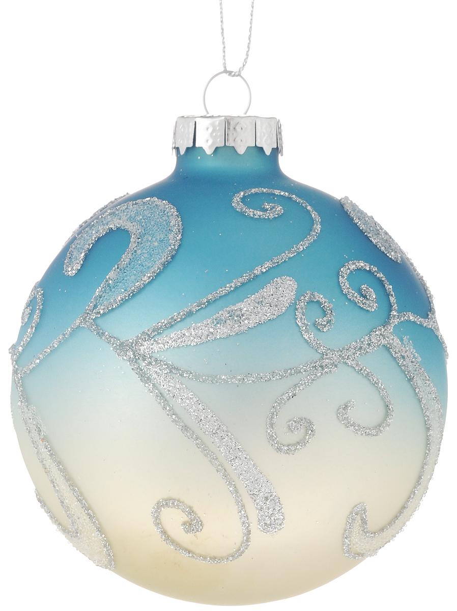 Украшение новогоднее подвесное Magic Time Снежные узоры, 8 см42346Новогоднее подвесное украшение Magic Time Снежные узоры выполнено из высококачественного стекла в форме шара и оформлено изящным рисунком с блестками. С помощью специальной петельки украшение можно повесить в любом понравившемся вам месте. Но, конечно, удачнее всего оно будет смотреться на праздничной елке. Елочная игрушка - символ Нового года. Она несет в себе волшебство и красоту праздника. Создайте в своем доме атмосферу веселья и радости, украшая новогоднюю елку нарядными игрушками, которые будут из года в год накапливать теплоту воспоминаний.Материал: стекло;Диаметр: 8 см.