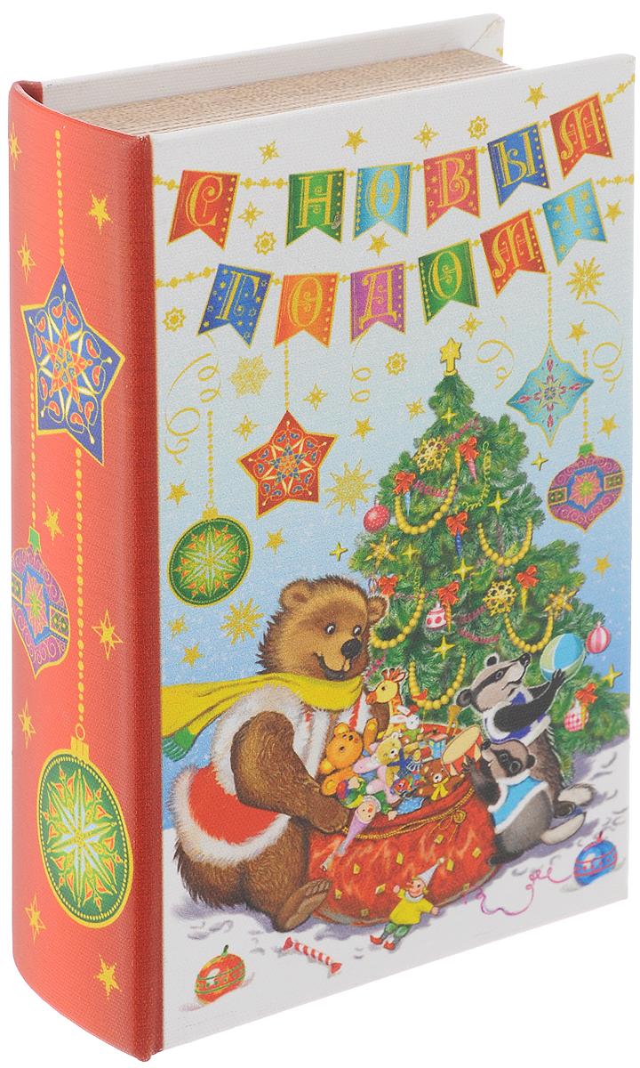 Шкатулка декоративная Феникс-Презент Медвежонок и еноты, 17 х 11 х 5 см шкатулка декоративная феникс презент дождь в париже 17 2 х 11 5 х 6 5 см