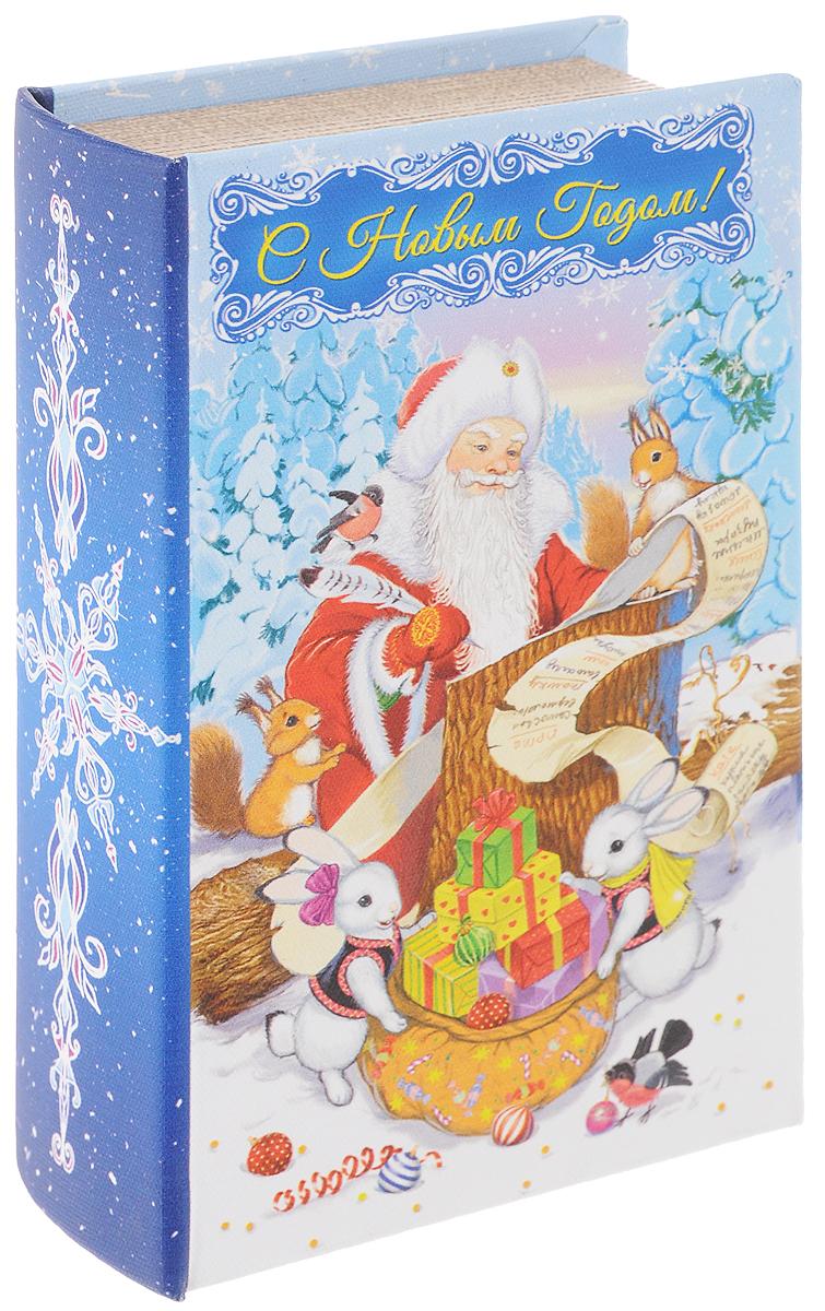 """Декоративная шкатулка """"Список подарков"""" выполнена из МДФ и оформлена ярким принтом. Шкатулка закрывается при помощи магнита.  Оригинальный дизайн и красочное исполнение создадут праздничное настроение.Такая шкатулка может использоваться для хранения бижутерии, в качестве украшения интерьера, а также послужит хорошим подарком на Новый год.Размер: 17 х 11 х 5 см"""