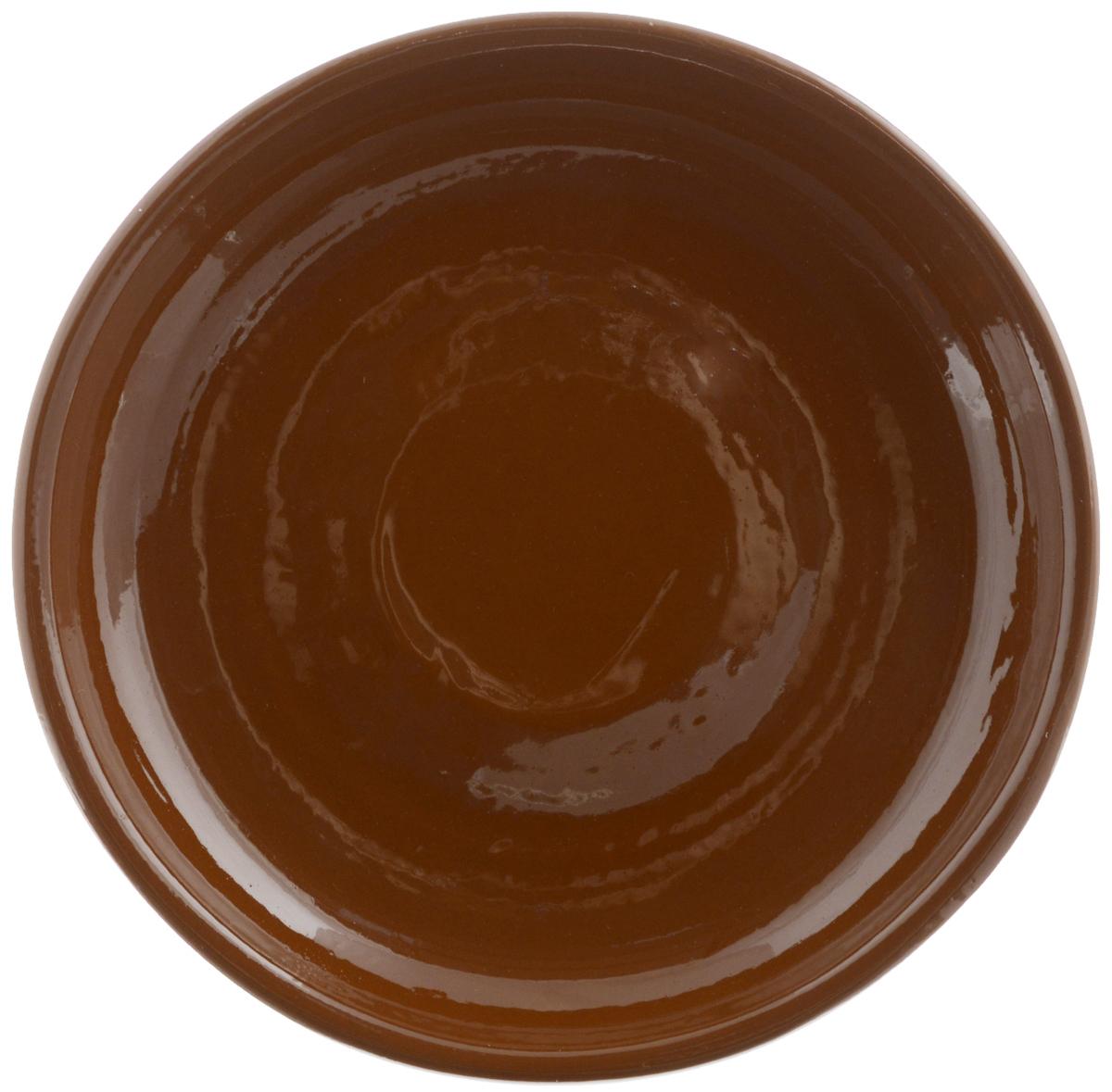 Тарелка Борисовская керамика Радуга, цвет: коричневый, диаметр 18 смРАД00000458_коричневыйТарелка Борисовская керамика Радуга выполнена из высококачественной керамики. Изделие идеально подойдет для сервировки стола и станет отличным подарком к любому празднику. Можно использовать в духовке и микроволновой печи.