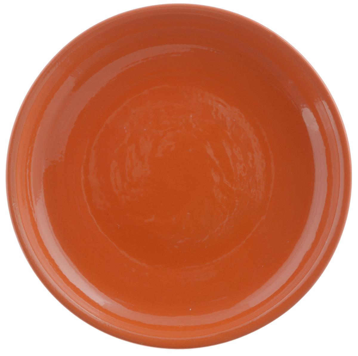 Тарелка Борисовская керамика Радуга, цвет: оранжевый, диаметр 18 смРАД00000458_оранжевыйТарелка Борисовская керамика Радуга выполнена из высококачественной керамики. Изделие идеально подойдет для сервировки стола и станет отличным подарком к любому празднику. Можно использовать в духовке и микроволновой печи.