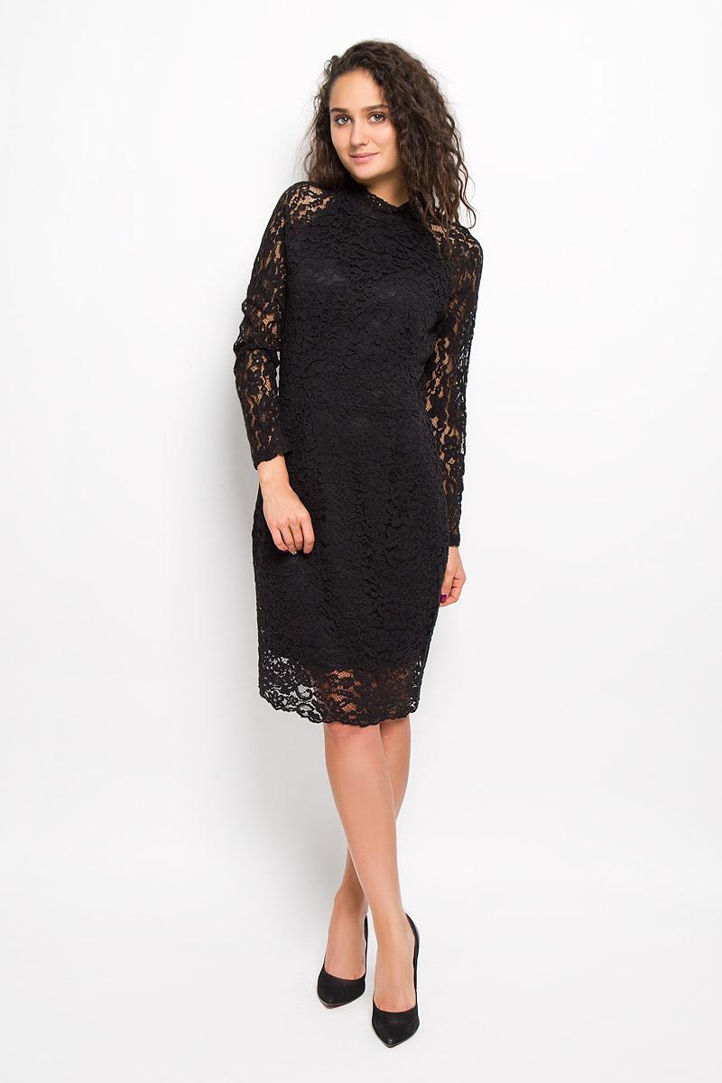 Платье Selected Femme, цвет: черный. 16051808. Размер 40 (46)
