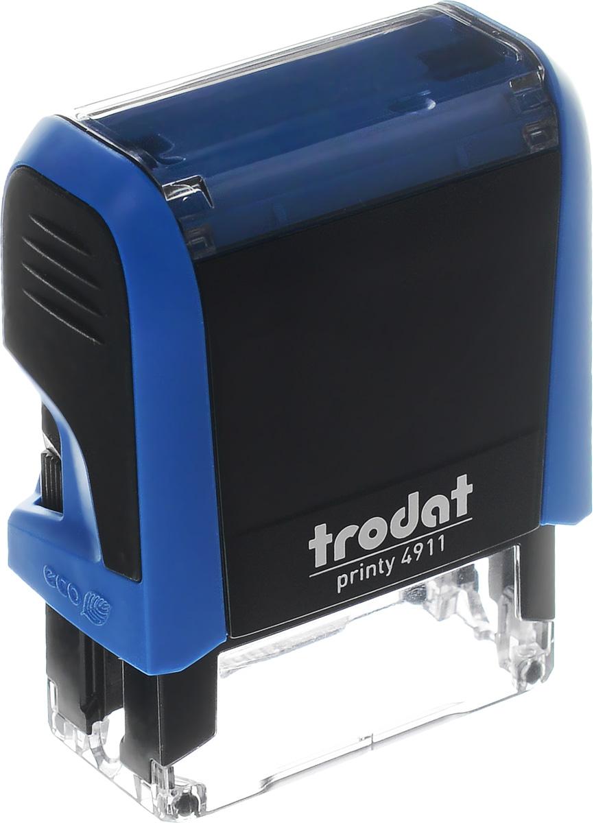 Оснастка для штампа автоматическая 38 х 14 мм цвет синий, Trodat