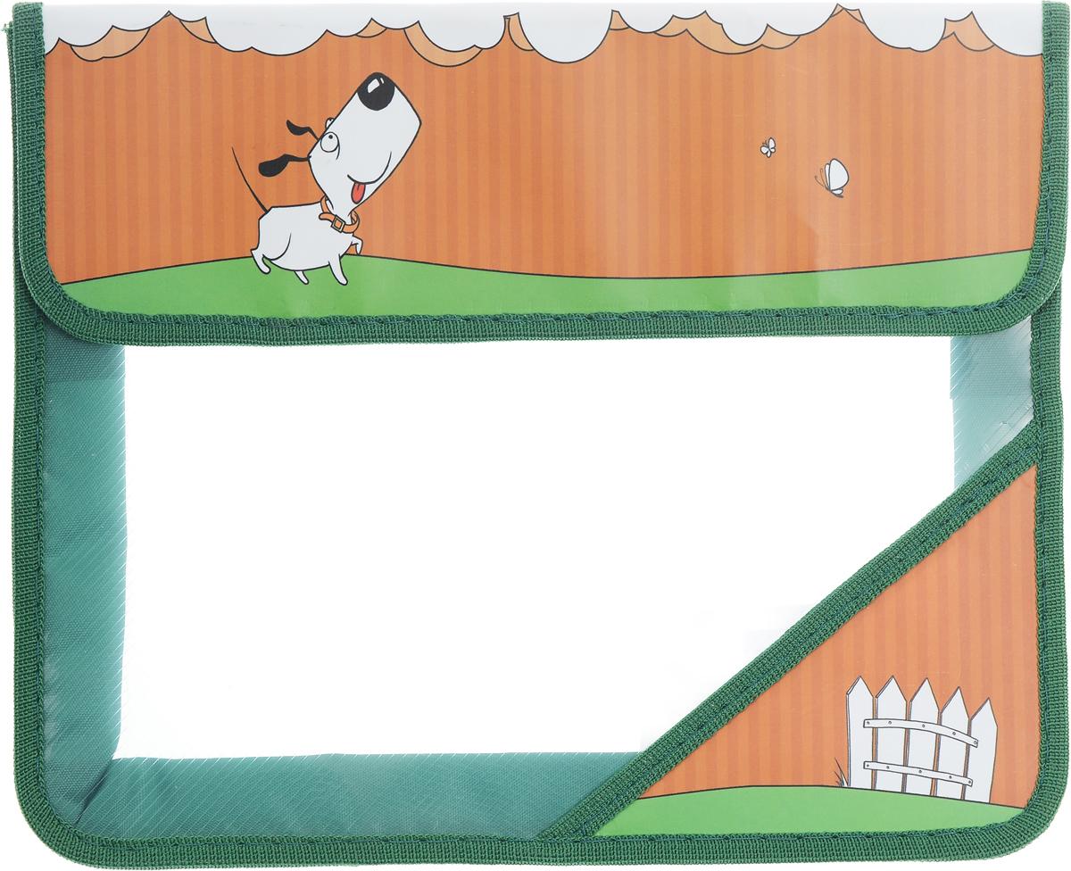 Action! Папка для тетрадей Милашки цвет зеленыйAFA5-11_ зеленыйПапка для тетрадей Action! Милашки - это удобный и функциональный инструмент, который идеально подойдет для хранения различных бумаг формата А5, а также школьных тетрадей и письменных принадлежностей.Лицевая сторона папки оформлена изображением милой собачки.Папка изготовлена из прочного пластика и надежно закрывается на клапан с липучками. Папка состоит из одного отделения.Папка практична в использовании и надежно сохранит ваши бумаги и сбережет их от повреждений, пыли и влаги.