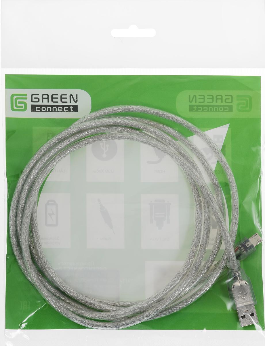 Greenconnect Premium GCR-UA2MCB2-BD2S, Clear кабель microUSB-USB 2 мGCR-UA2MCB2-BD2S-2.0mКабель Greenconnect Premium GCR-UA2MCB2-BD2S позволяет подключать мобильные устройства, которые имеют разъем microUSB к USB разъему компьютера. Подходит для повседневных задач, таких как синхронизация данных и передача файлов. Кабель имеет экранирование, что позволяет защитить сигнал при передаче от влияния внешних полей, способных создать помехи.Пропускная способность интерфейса: до 480 Мбит/сТип оболочки: PVC (ПВХ)