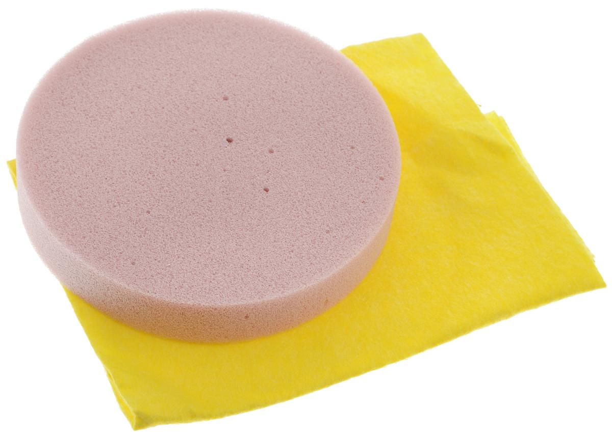 Набор салфеток Runway, для полировки автомобиля, цвет: желтый, розовый, 2 штRW646Набор салфеток для полировки автомобиля Runway состоит из вискозной салфетки и губки. Набор прекрасно полирует автомобиль. Для нанесения полироли используйте вискозную салфетку. Небольшое количество полироли выдавите не салфетку и равномерно нанесите на лакокрасочное покрытие автомобиля. Окончательно располируйте нанесенную полироль губкой.Подходит для многократного применения.Размер салфетки: 30 х 30 см.Диаметр губки: 12 см.