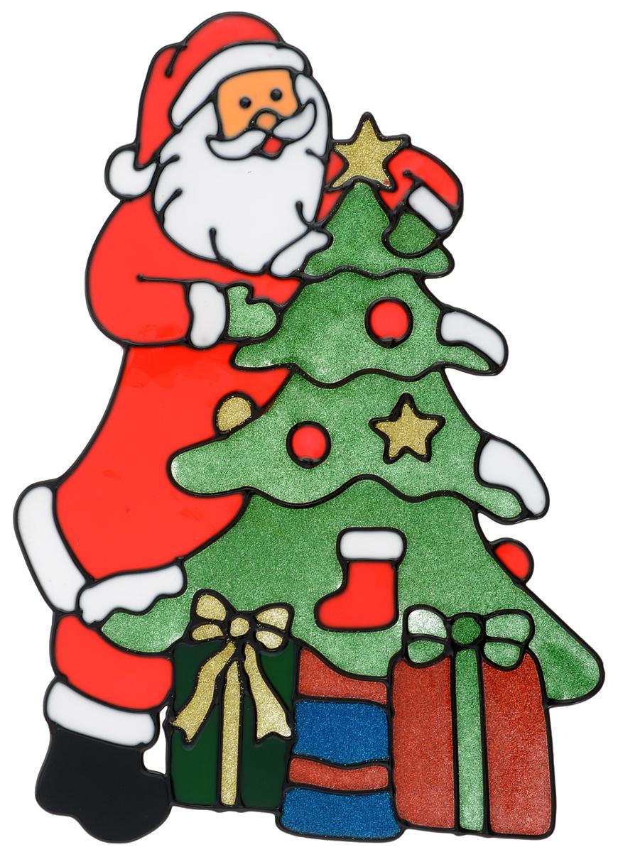 Наклейка на окно Erich Krause Счастливого рождества, 30 х 21,5 см38196Наклейка на окно Erich Krause Счастливого рождества выполнена в виде Деда Мороза с елочкой и подарками.С помощью больших витражных наклеек на окно Erich Krause можно составлять на стекле целые зимние сюжеты, которые будут радовать глаз, и поднимать настроение в праздничные дни! Так же Вы можете преподнести этот сувенир в качестве мини-презента коллегам, близким и друзьям с пожеланиями счастливого Нового Года!Размер наклейки: 30 х 21,5 см