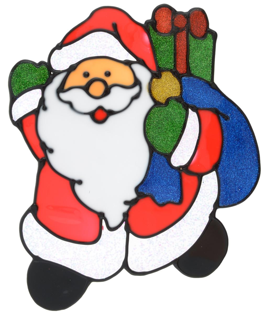 Наклейка на окно Erich Krause Дедушка с подарками, 19 х 15,5 см38187Наклейка на окно Erich Krause Дедушка с подарками выполнена в виде Деда Мороза с мешком подарков.С помощью больших витражных наклеек на окно Erich Krause можно составлять на стекле целые зимние сюжеты, которые будут радовать глаз, и поднимать настроение в праздничные дни! Так же Вы можете преподнести этот сувенир в качестве мини-презента коллегам, близким и друзьям с пожеланиями счастливого Нового Года!Размер наклейки: 19 х 15,5 см
