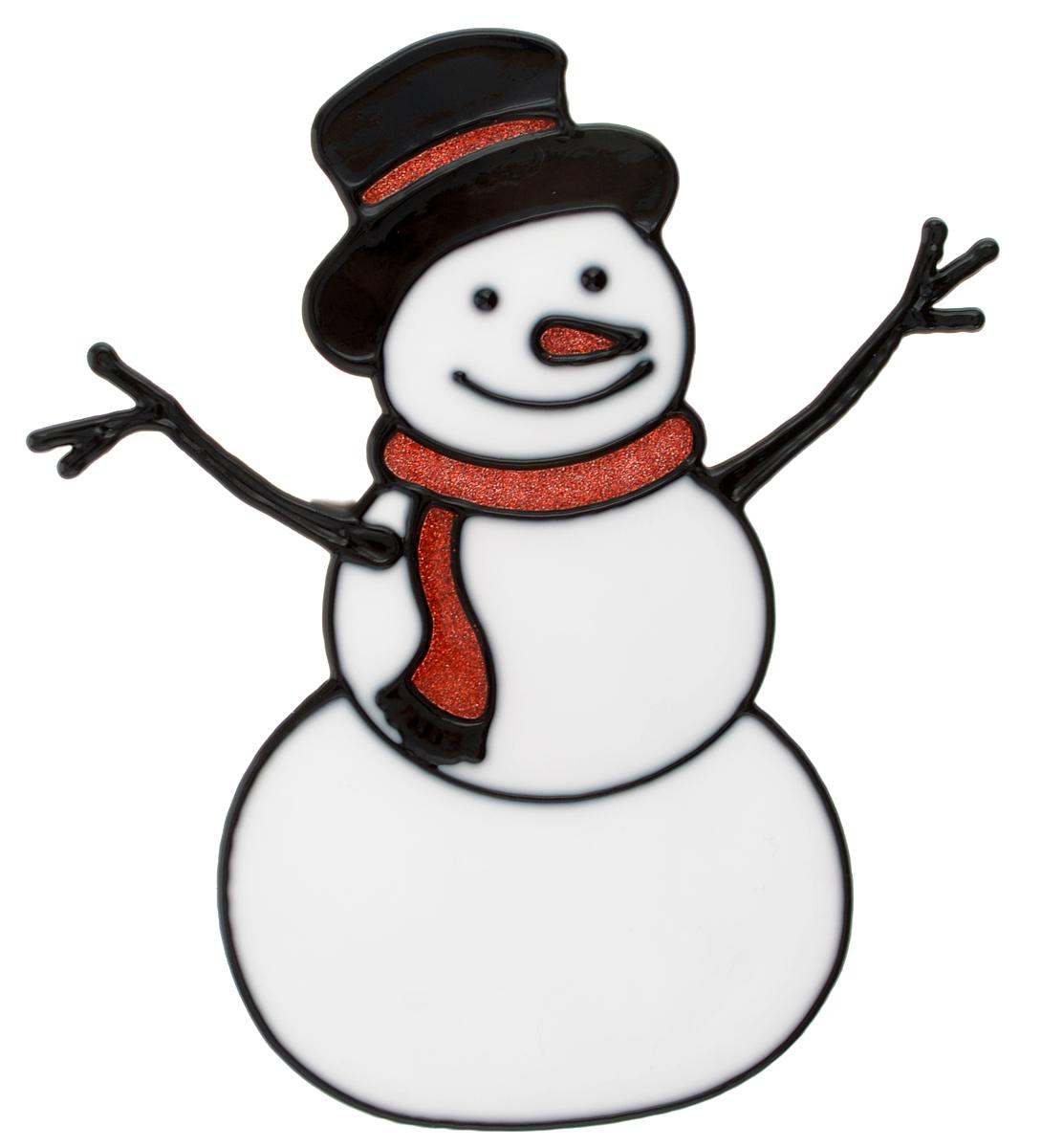 Наклейка на окно Erich Krause Снеговичок, 14,5 х 16 см38179Наклейка на окно Erich Krause Снеговичок выполнена в виде снеговика с красным шарфиком.С помощью больших витражных наклеек на окно Erich Krause можно составлять на стекле целые зимние сюжеты, которые будут радовать глаз, и поднимать настроение в праздничные дни! Так же Вы можете преподнести этот сувенир в качестве мини-презента коллегам, близким и друзьям с пожеланиями счастливого Нового Года!Размер наклейки: 14,5 х 16 см