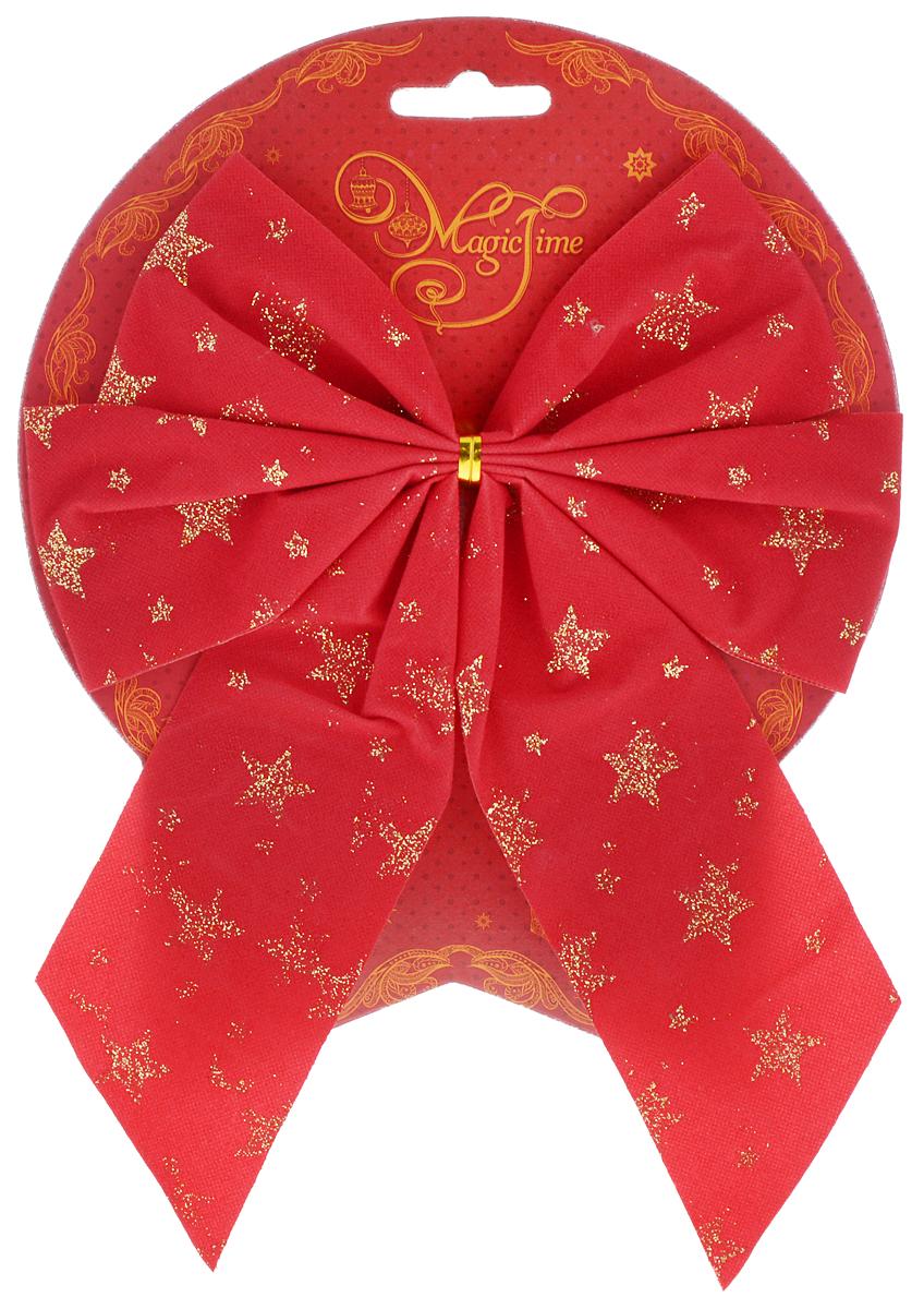 Украшение новогоднее Magic Time Бант. Красный со звездами, 17 х 21 см. 4277942779/76248Новогоднее украшение Magic Time Бант. Красный со звездами отлично подойдет для декорации вашего дома и новогодней ели. Игрушка выполнена из полиэстера в виде бантика. Украшение можно привязать к ели.Елочная игрушка - символ Нового года. Она несет в себе волшебство и красоту праздника. Создайте в своем доме атмосферу веселья и радости, украшая всей семьей новогоднюю елку нарядными игрушками, которые будут из года в год накапливать теплоту воспоминаний.