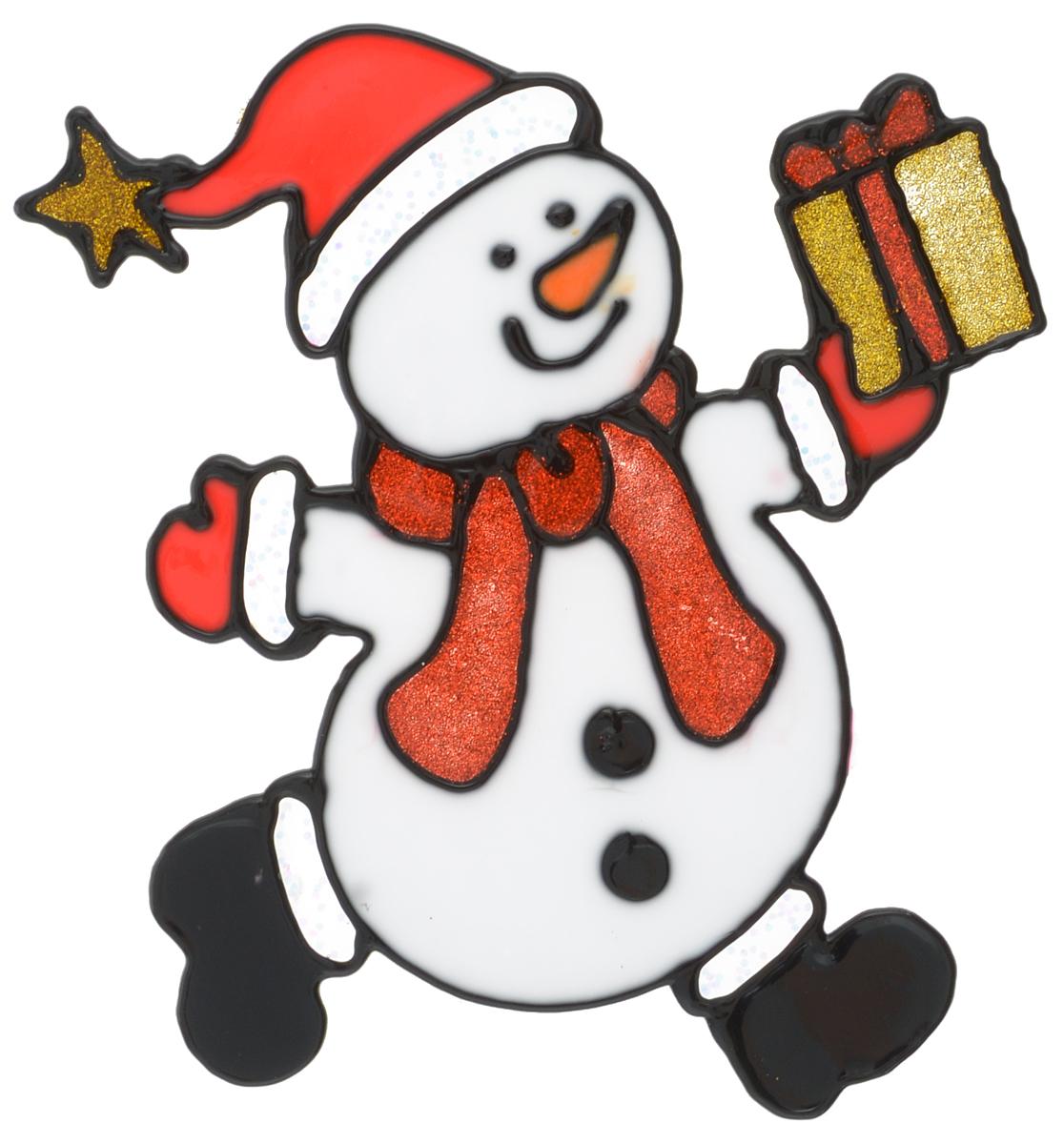 Наклейка на окно Erich Krause Сюрприз, 14,5 х 13,5 см38501Наклейка на окно Erich Krause Сюрприз выполнена в виде снеговика с подарком. С помощью больших витражных наклеек на окно Erich Krause можно составлять на стекле целые зимние сюжеты, которые будут радовать глаз, и поднимать настроение в праздничные дни! Так же Вы можете преподнести этот сувенир в качестве мини-презента коллегам, близким и друзьям с пожеланиями счастливого Нового Года! Размер наклейки: 14,5 х 13,5 см