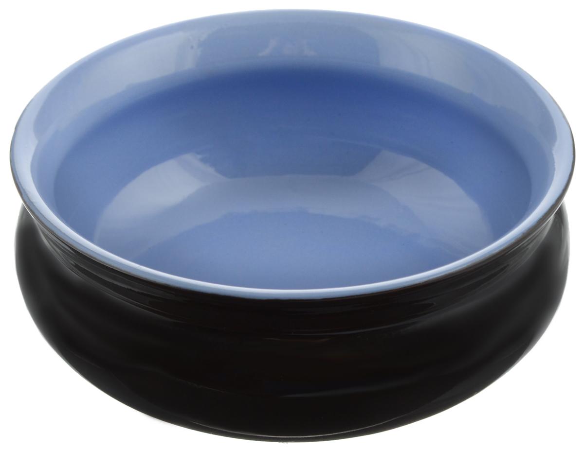 Тарелка глубокая Борисовская керамика Скифская, цвет: черный, голубой, 500 млРАД14458194_черный, голубойГлубокая тарелка Борисовская керамика Скифская выполнена из керамики. Изделие сочетает в себе изысканный дизайн с максимальной функциональностью. Она прекрасно впишется в интерьер вашей кухни и станет достойным дополнением к кухонному инвентарю. Такая тарелка подчеркнет прекрасный вкус хозяйки и станет отличным подарком. Можно использовать в духовке и микроволновой печи.Диаметр тарелки (по верхнему краю): 14 см.Объем: 500 мл.