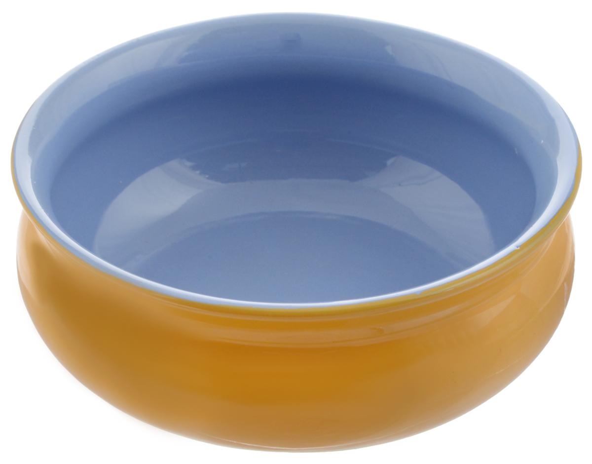 Тарелка глубокая Борисовская керамика Скифская, цвет: желтый, голубой, 500 млРАД14458194_желтый, голубойГлубокая тарелка Борисовская керамика Скифская выполнена из керамики. Изделие сочетает в себе изысканный дизайн с максимальной функциональностью. Она прекрасно впишется в интерьер вашей кухни и станет достойным дополнением к кухонному инвентарю. Такая тарелка подчеркнет прекрасный вкус хозяйки и станет отличным подарком. Можно использовать в духовке и микроволновой печи.Диаметр тарелки (по верхнему краю): 14 см.Объем: 500 мл.