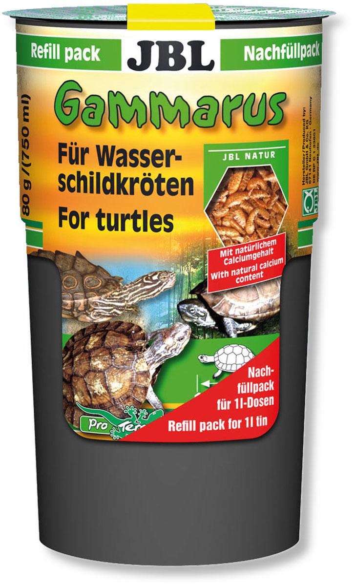 Корм-лакомство JBL Gammarus для водных черепах, 80 г (750 мл) jbl novocrabs корм для панцирных ракообразных 100 мл 45 г
