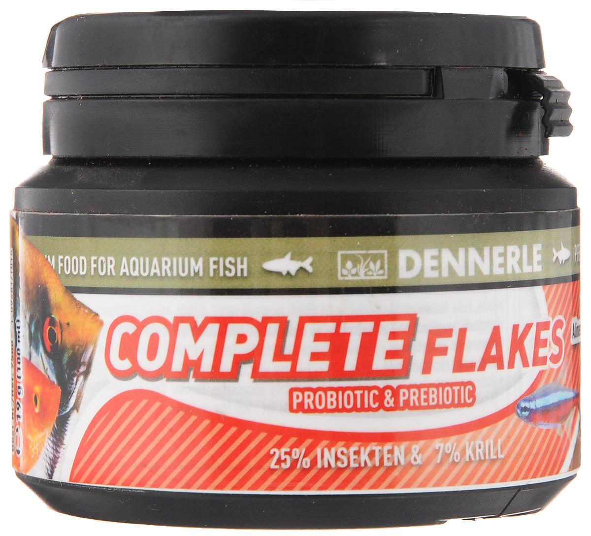 Корм Dennerle Complete Flakes, для аквариумных рыб, 19 гDEN7500Корм Dennerle Complete Flakes подходит для обитателей классических общих аквариумов. Корм состоит из различных ингредиентов хорошо воспринимаемых рыбками любых размеров. Содержит до 25% вкусных личинок насекомых, до 7% богатых витаминами овощей. В состав входят листья чудесного дерева Моринга с высоким содержанием микроэлементов и витаминов.Состав: белковый экстракт из личинок Hermetia (25%), пшеничная мука, пшеничный белок, криль (7%), кальмар, шпинат, кукурузная мука, дрожжи, бетаин, омега-3 морское масло, цикория инулин, капуста, кормовой кальций, Моринга, спирулина, чеснок, бета-глюканат.Аналитические составляющие: Сырой протеин 45,2%, сырого жира 9,5%, сырой клетчатки 4,2%, зола 5,5%Товар сертифицирован.