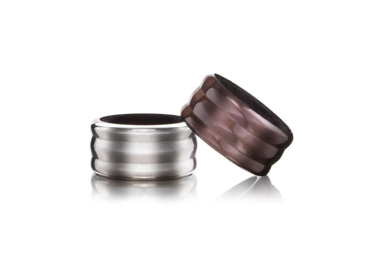 Набор каплеуловителей VacuVin, цвет: серебристый, коричневый, 2 шт
