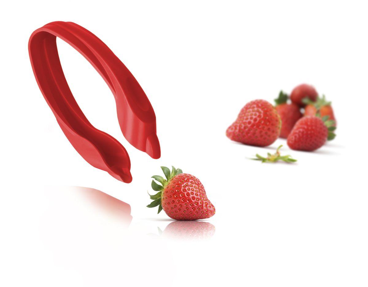 """Устройство для удаления листиков у ягод VacuVin """"Strawberry Huller"""", цвет: красный"""