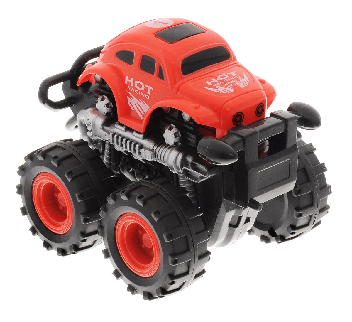 Big Motors Машинка инерционная 4WD цвет красный пламенный мотор машинка инерционная volvo пожарная охрана